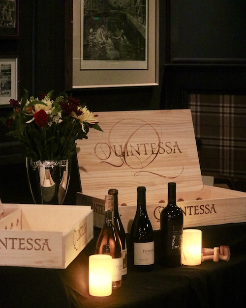 Quintessa wines and crate
