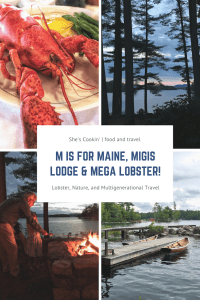 Lobster, Migis Lodge, Maine collage
