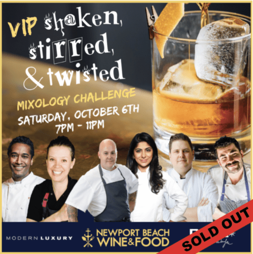 VIP Cocktail Demo, Newport Beach Wine & Food