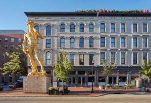 statue of David at 21c Museum Hotel Louisville