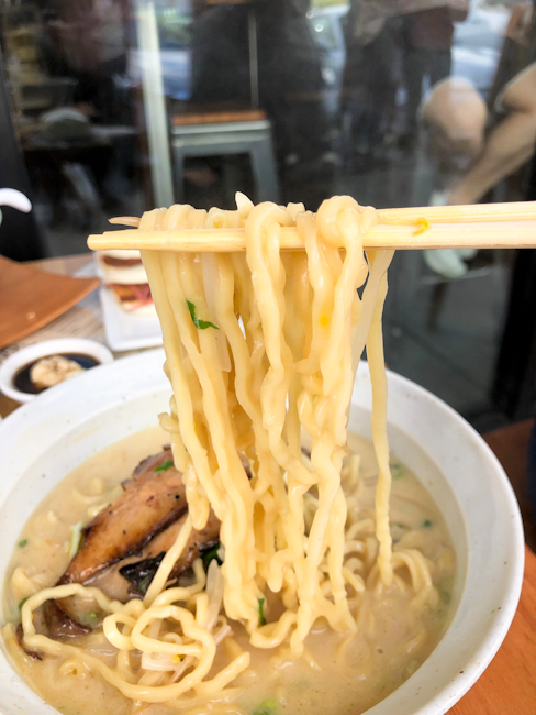 Bowl of tonkotsu ramen at HiroNori Craft Ramen, Irvine, CA