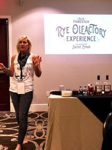 Jackie Zykan introducing Old Forester