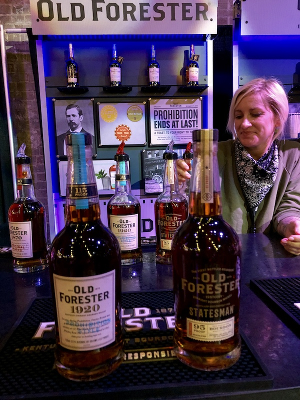 Old Forester booth at New Orleans Bourbon Festival Grand Tasting