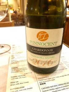 St. Innocent Chardonnay, Salem, Oregon
