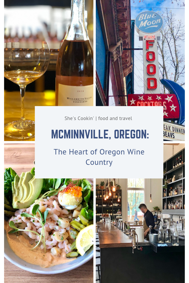 Historic downtown McMinnville, Oregon, is the heart of Oregon Wine Country and where buzz for Oregon\'s Pinot Noirs began. McMinnville has a plethora of dining options to tempt your taste buds and plenty of places to quench your thirst. When you visit, download the McMinnville Wine Walk app and sip your way through 15 downtown tasting rooms. #travel #Oregon #winetasting #winecountry #Willamette_Valley #Pinot_Noir