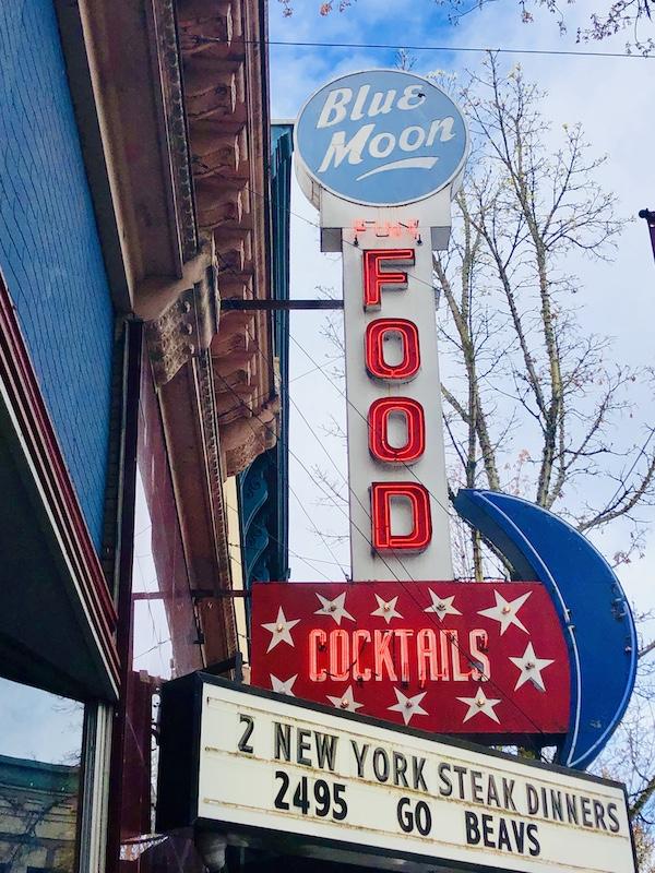 Blue Moon Lounge historic sign, McMinnville, Oregon