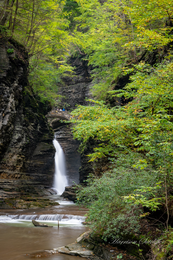 waterfalls in the finger lakes region, Central Cascade Falls, Watkins Glen State Park