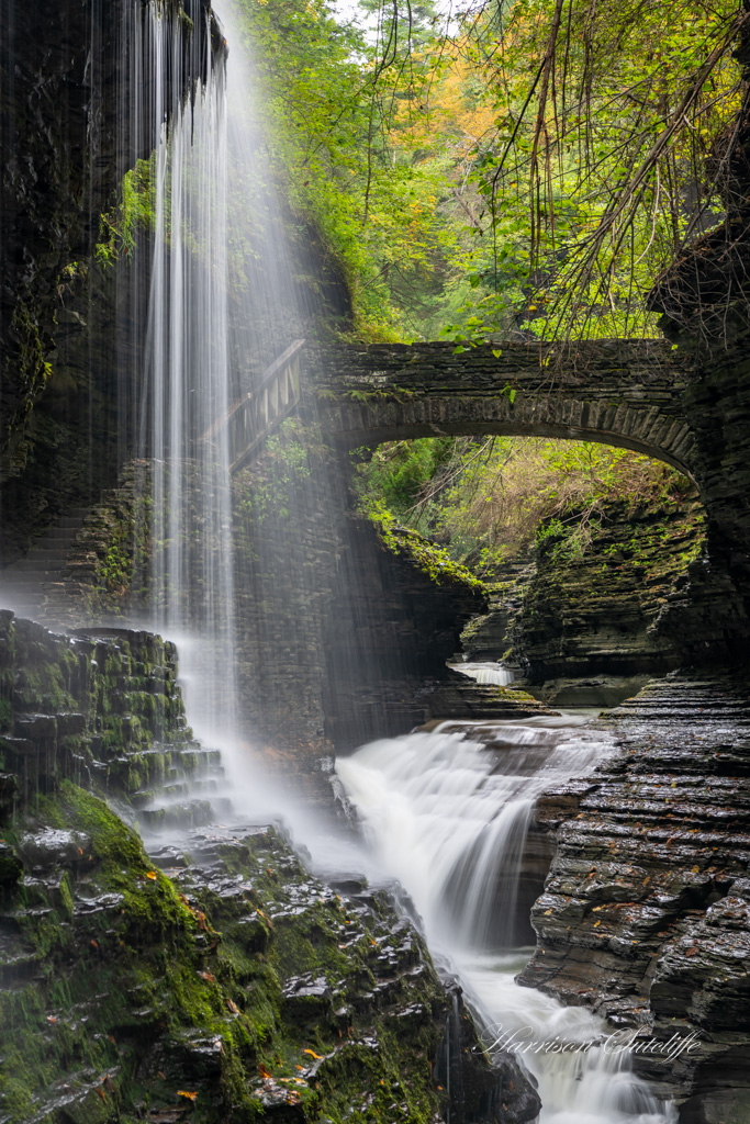 waterfalls in the finger lakes region, Rainbow Falls, Watkins Glen State Park