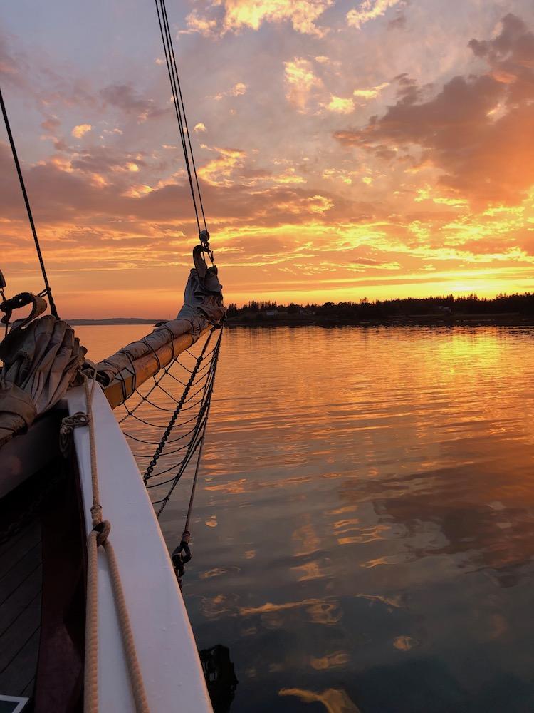 Maine sunset from the schooner J&E Riggin