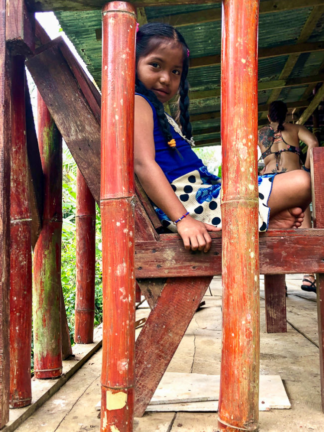 Little girl in Bocas del Toro