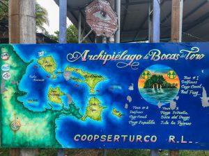 Map of Bocas del Toro