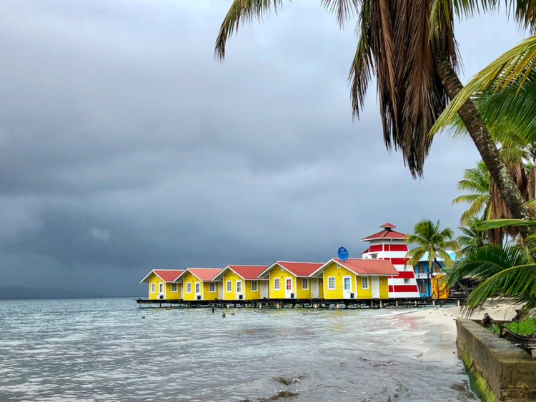 Colorful studio cottages on the water in Bocas del Toro