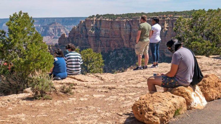 social distancing at Grand Canyon National Park