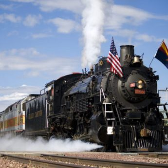 Grand Canyon Railway steam train
