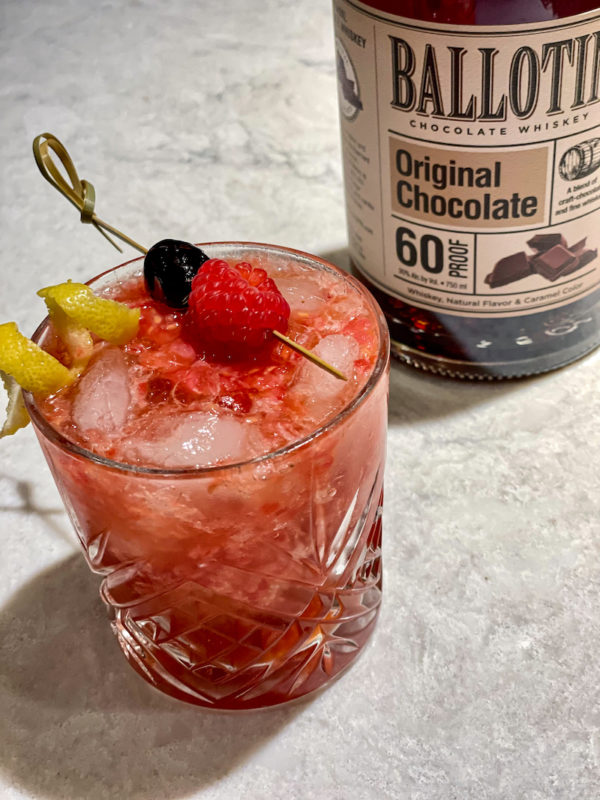 Valentine's Day cocktail, Ballotin Raspberry Chocolate cocktail