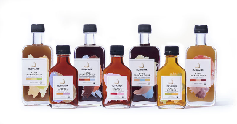 Infused maple syrups and cocktail mixes from Runamok