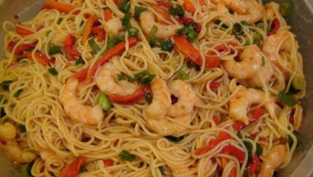 shrimp pasta Diet recipe