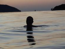 Swimming at Stari Grad, Hvar