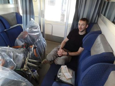 On the train from Naples to Rome