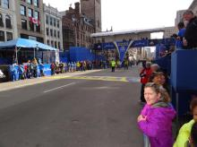 Boston Marathon Finishline, the day before the race