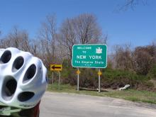 Entering New York State at Long Island