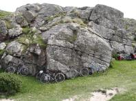 Bike parking at Bosta, Isle of Lewis
