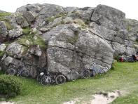 Bike parking at Bosta, Isle of Lewis