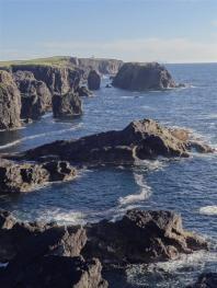 Volcanic coastline, Esganess, Shetland