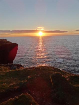 Sunset Eshaness, Shetland