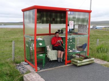 The world famous Unst Bus Shelter