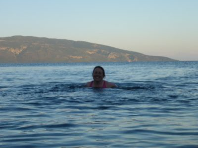 Evening swim on Kefalonia