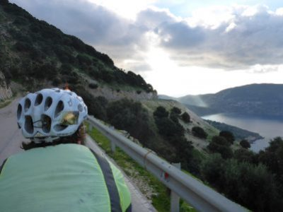 Riding to the south west of Kefalonia