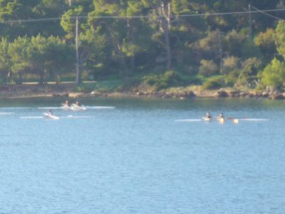 Rowing at Argostoli