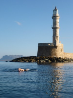 Christmas day swim in Chania harbour