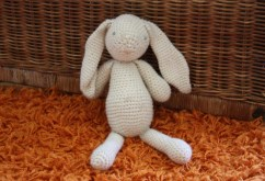 A crochet bunny I have made for the baby