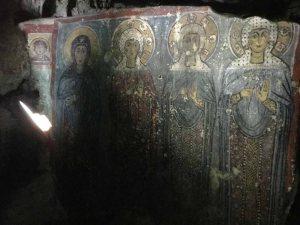 Fresco in the Church Cave of Saint Agia Sophia