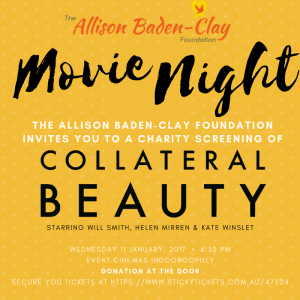 Join the She Brisbane team at The Allison Baden-Clay Movie Night on 11th of January