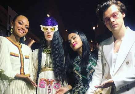 Salma Hayek, Harry Styles and Zoe Saldana took in the collection, at the Gucci Cruise collection