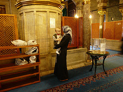 woman with child in the mosque