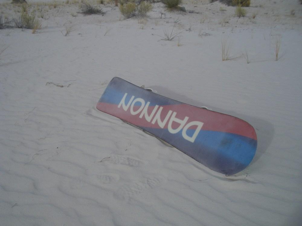 Sandboarding White Sands National Monument and Missile Range (6/6)
