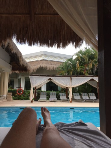 Lounging by the Platinum Pool
