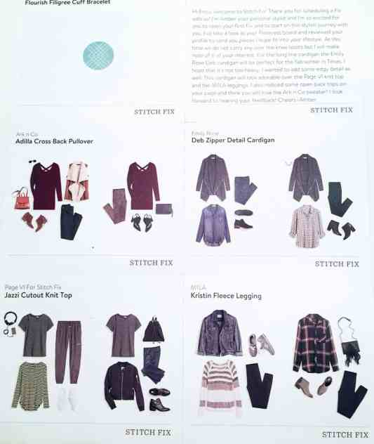 Stitch Fix Review Look Book