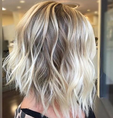 Short Blonde Balayage Hair Color Idea