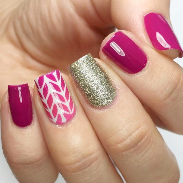 Cute Accent Nail Designs - 33 Gel Nail Designs That You Will Want To Copy Immediately