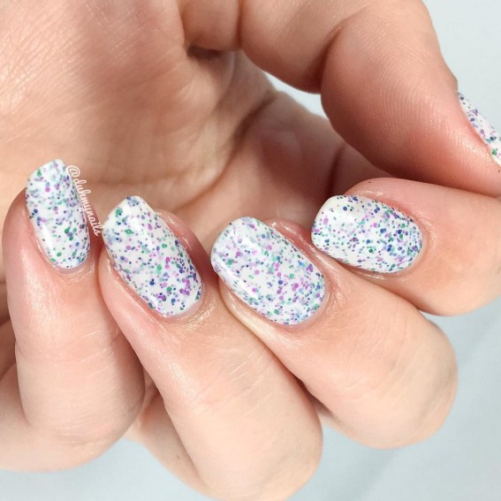 Gel Nail Designs and More: Speckled Nail Polish