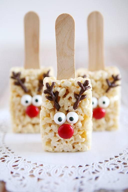 Easy Cookie Exchange Recipes: Reindeer Rice Krispies