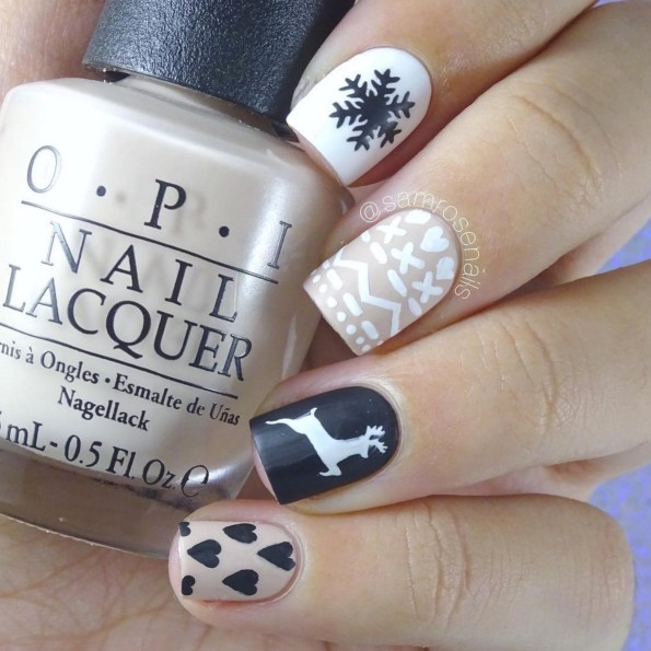 Winter Nail Designs: Neutral, Black & White Nail Art