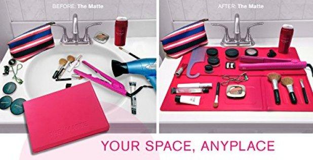 Makeup TIps: The Matte Bathroom Counter Space Saver