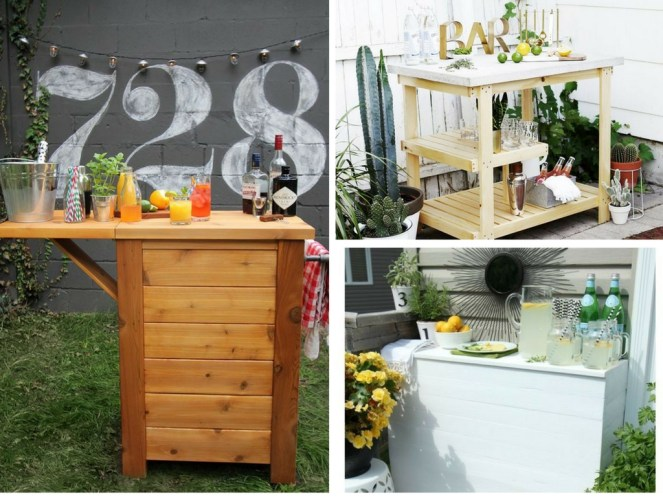 11 DIY outdoor bar ideas to upgrade your backyard entertaining