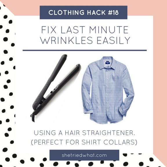 Clothing Hack: Fix Last Minute Wrinkles Using a Hair Straightener